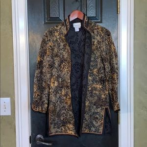 Coldwater Creek tapestry jacket PXS